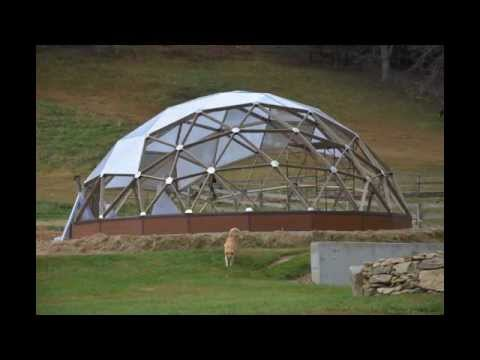 Growing spaces geodesic grow dome greenhouse being built stop motion