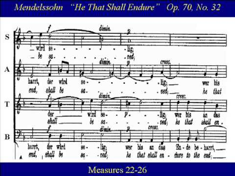 Феликс Мендельсон - He that shall endure (No. 32 from