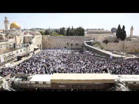 Birkat Kohanim at the Kotel -- Pesach 2014