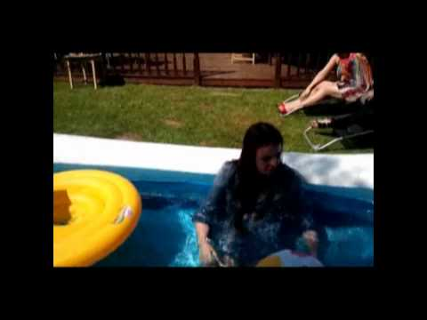 paige thrown in pool fully clothed