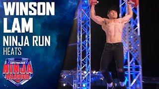 Model Winson Lam breezes through the course | Australian Ninja Warrior 2019