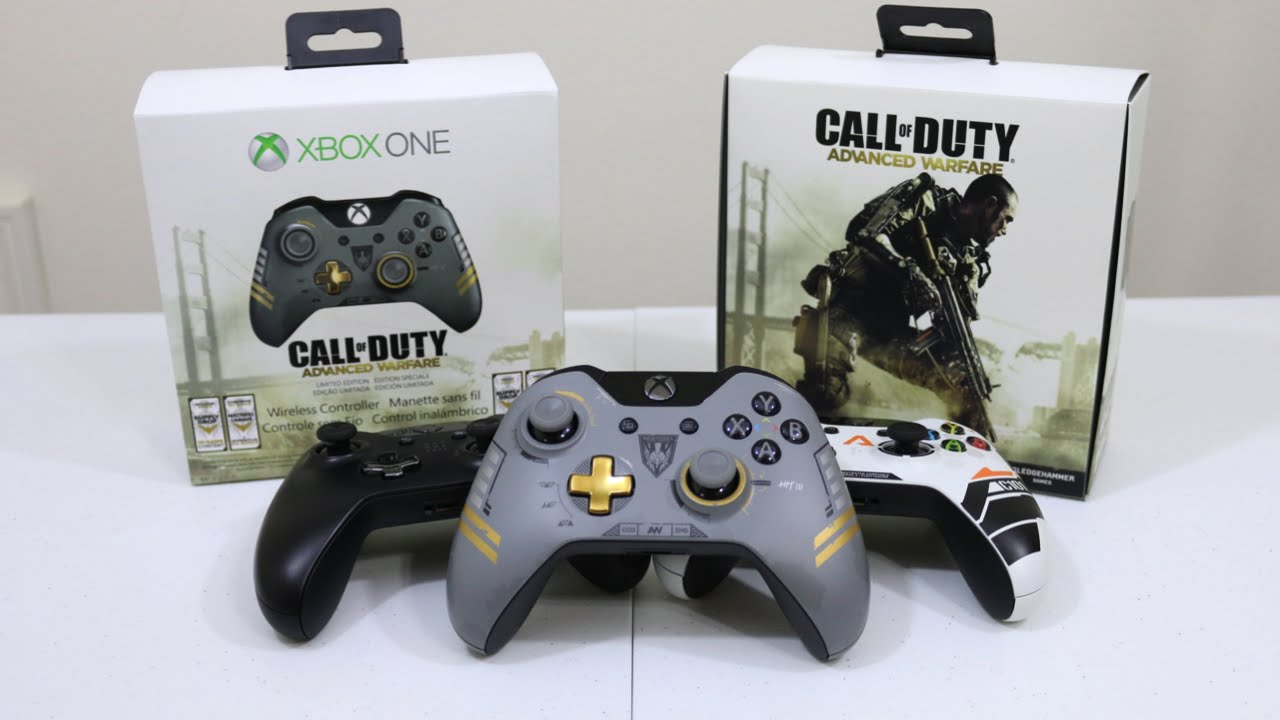Call of Duty Advanced Warfare Wireless Controller Unboxing ... Xbox One Titanfall Controller