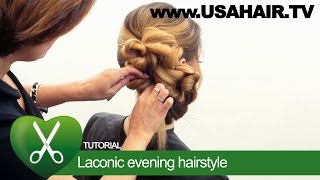 Laconic evening hairstyle. parikmaxer TV USA