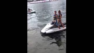 Justin Bieber takes Hailey Baldwin for a ride jet skiing in Miami