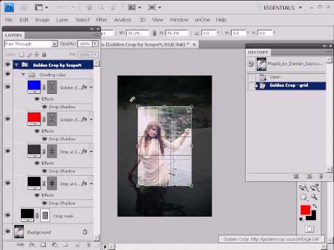 Golden Crop for Photoshop® -- Howto