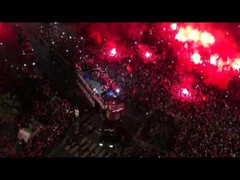 Festejos Benfica Campe�o 2014 @ Marqu�s de Pombal HD - Skyeye.pt