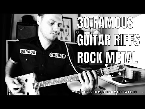 30 GREATEST ROCK GUITAR RIFFS ON CIGAR BOX GUITAR.