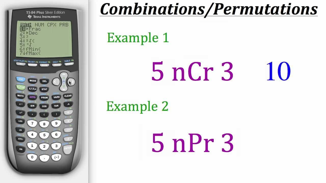 TI Calculator Tutorial: Combinations & Permutations - YouTube