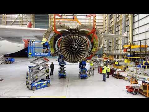 Inside a Virgin Atlantic engine change