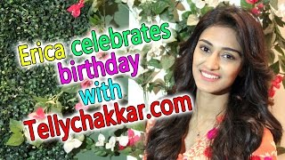Erica celebrates birthday with Tellychakkar.com