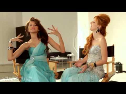 Zendaya & Bella Thorne - Behind The Scenes Of Seventeen Magazine Prom Photos