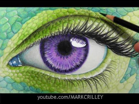 Drawing Time Lapse: Reptilian Skin