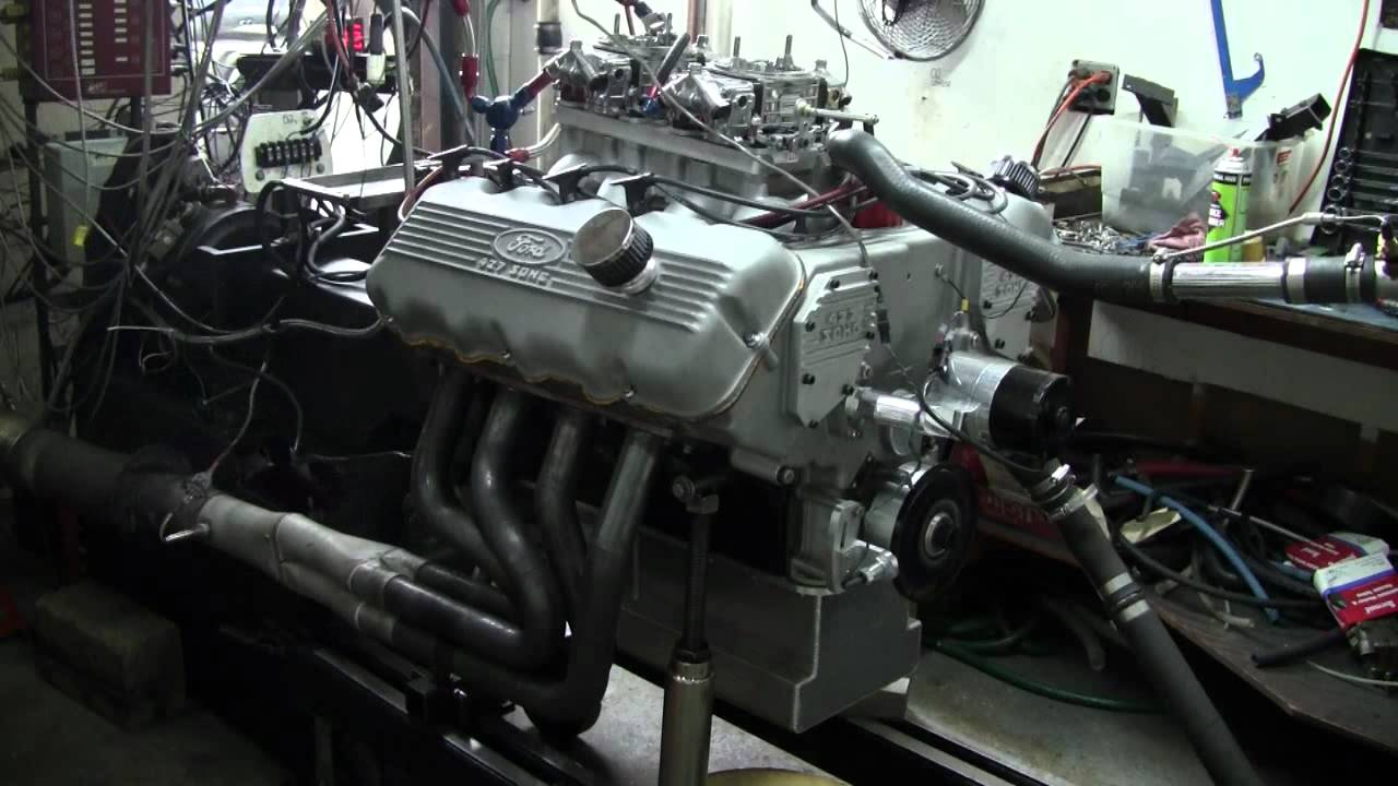 527 Cubic Inch 427 Ford Sohc On The Dyno 870 Horsepower