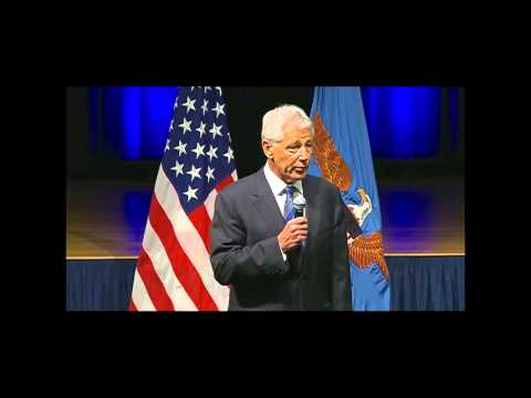 Secretary of Defense Chuck Hagel's first meeting with DOD personnel
