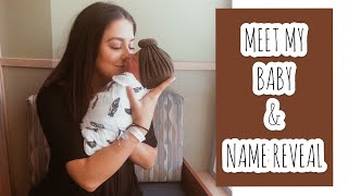 Meet My Baby & Name Reveal! || Milena Ciciotti