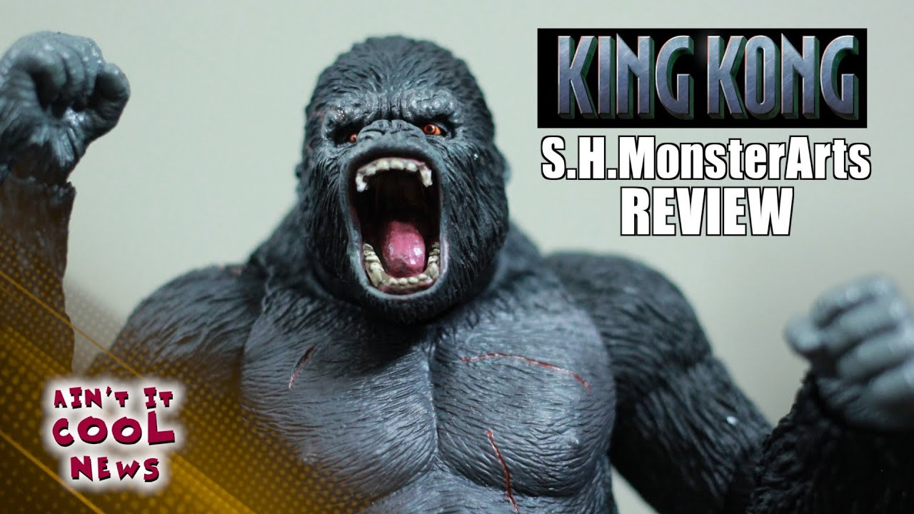 s h monsterarts king kong toy review