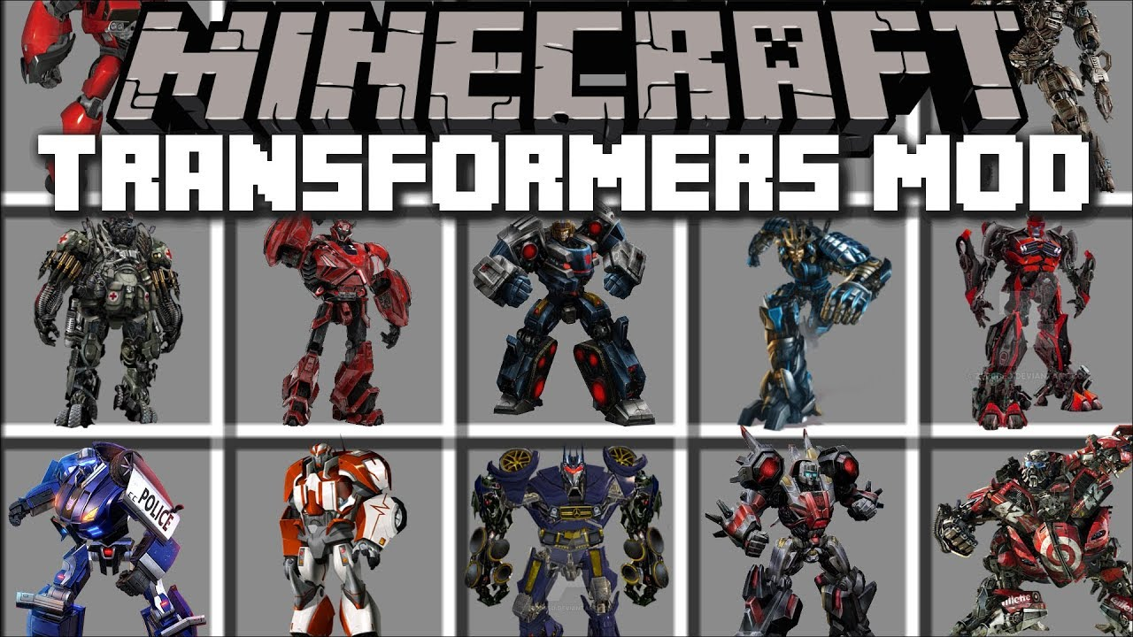 Minecraft TRANSFORMERS MOD / FIGHT AND TRANSFORM IN TO TRANSFORMERS!! Minecraft
