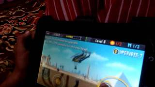Reliance 3g Tab...Akash Ray playing deathworm game