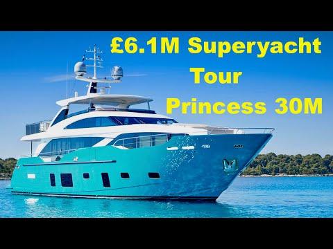 Superyacht Tour : Princess 30M