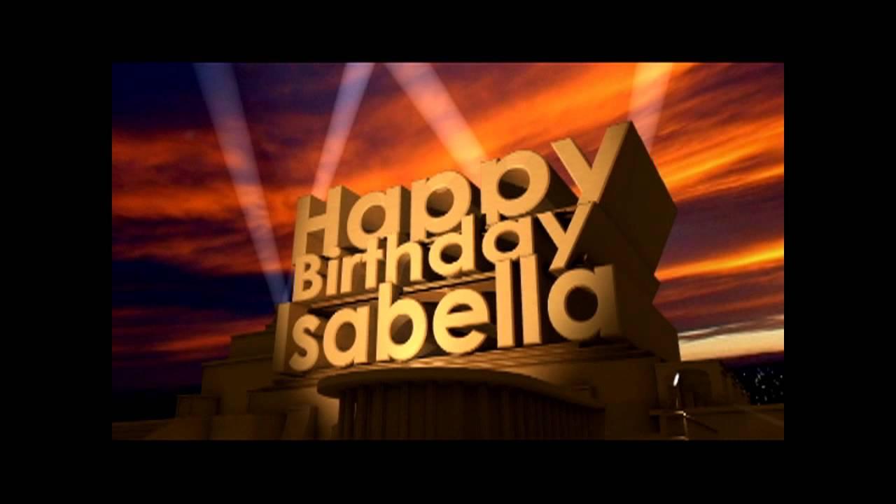 happy birthday isabella