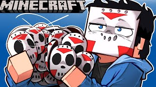 FILLING SQUIRREL'S TREE HOUSE WITH HOCKEY MASKS ON MINECRAFT! - (Prank Revenge) Ep. 27!