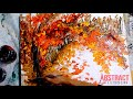 Amazing landscape abstract painting by Peter Dranitsin acrylics on canvas