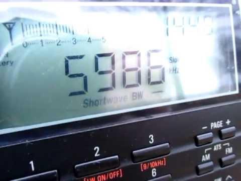 5985 Khz Radio Myanmar, Yangon, received on a Tecsun PL 660 in Germany