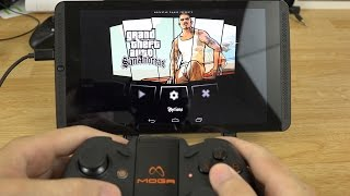 Playing Grand Theft Auto: San Andreas on my NVIDIA Shield Tablet with a MOGA Pro Controller!