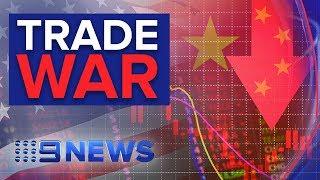 Aussie dollar and share markets slump as U.S. China spat escalates | Nine News Australia