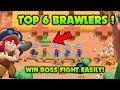 Top 6 Best Brawlers For Boss Fight in Brawlstars !