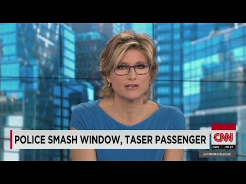 Police smash window, taser man
