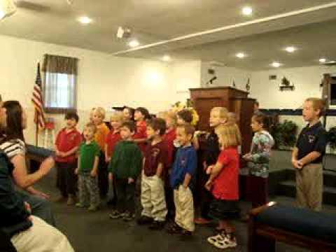 "Upson Christian Academy singing ""II Timothy 1:7"""