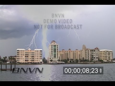 8/8/2008 Lightning video over Sarasota Bay