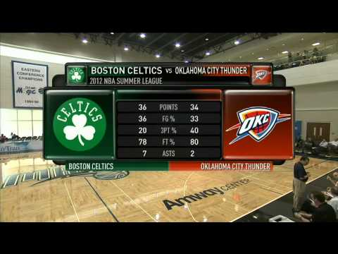 Boston Celtics vs OKC Thunder Summer League 2012