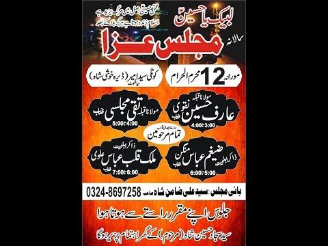 live Majlis e aza | 12 Muharram 2019 | Dera peer Khushi Shah Kotli syed Amir Sialkot