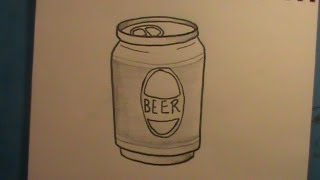 How to Draw a Can of Beer