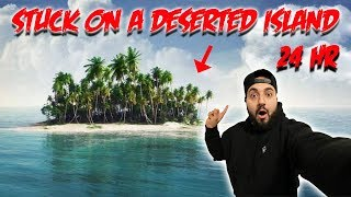 SLEEPING ON A DESERTED ISLAND IN THE OCEAN GONE WRONG // 24 HOUR OVERNIGHT CHALLENGE ON AN ISLAND