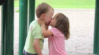 Kids First Kiss at the Playground