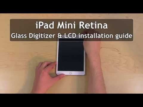 iPad Mini 3 (2014) Glass & Screen Replacement (digitizer and LCD removal and installation)