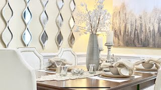 DINING ROOM DECORATING IDEAS|SUMMER TABLESCAPE