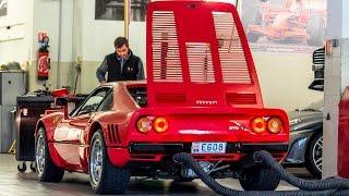 FERRARI 288 GTO - LOUD SOUND at Ferrari Service Monaco   2017 HQ