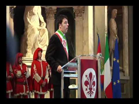 Matteo Renzi saluta il Presidente Giorgio Napolitano - Firenze 12 maggio 2011