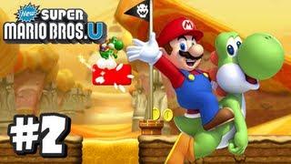 New Super Mario Bros U Wii U - Part 2 World 2-1, 2-2, 2-3, 2-Tower