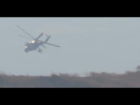 Ми-24 устроили ад для террористов в районе базы ВКС РФ.Сирия Российские вертолеты
