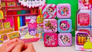 LOL Surprise Tins and Blind Bags ! Toys and Dolls Fun for Kids with Disney Princesses   SWTAD