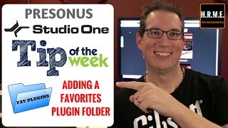 Presonus Studio One - Adding a Favorites Plugin Folder