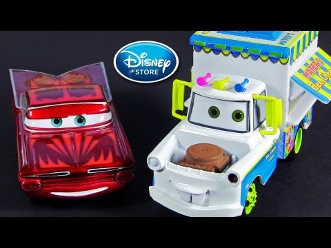 Ice Cream Truck Mater and Red Ramone Disney Pixar Cars Diecast 1:43