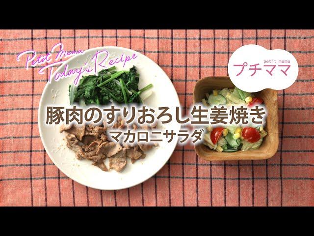 豚肉のすりおろし生姜焼き(ビストロ対応)