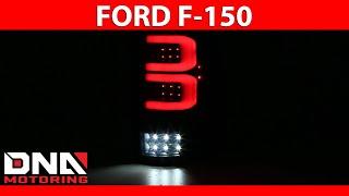 DNA Motoring 04-08 Ford F-150 Black Housing Smoked Tail Lights