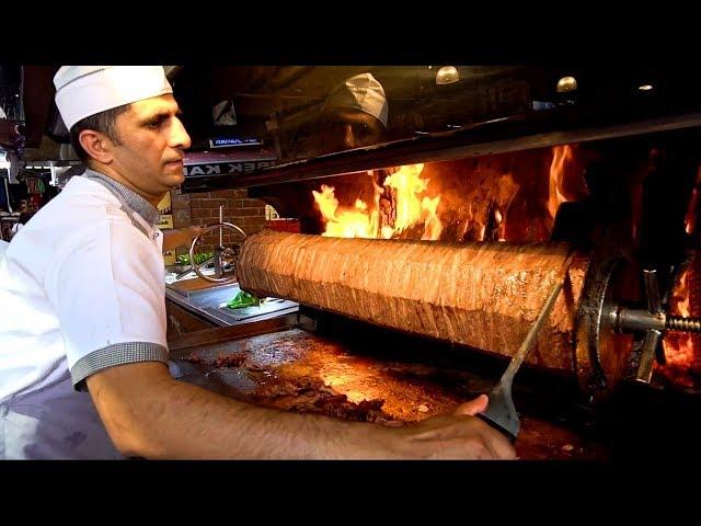 TURKISH STREET FOOD  You39ve NEVER Seen this Before!!! KEBAB HEAVEN  Street Food in Izmir Turkey